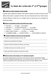 Exercices, révisions sur le futur des verbes des 1er et 2ème groupes au Cm2 avec les corrections