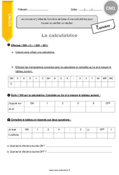 Utiliser la calculatrice – Exercices avec la correction – Cm1