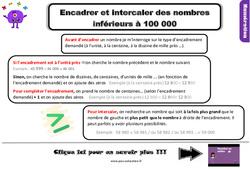Leçon, trace écrite sur encadrer et intercaler les nombres inférieurs à 100 000 au Cm1
