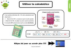 Leçon, trace écrite sur utiliser la calculatrice au Cm1