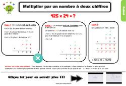 Leçon, trace écrite sur la multiplication par un nombre à deux chiffres au Cm1