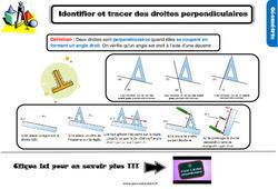 Leçon, trace écrite sur identifier et tracer des droites perpendiculaires au Cm1