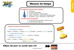 Leçon, trace écrite sur la mesure du temps au Cm1