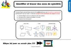Leçon, trace écrite sur identifier et tracer des axes de symétrie au Cm1