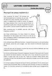 Pourquoi les lamas crachent-ils? – Cm1 – Cm2 – Lecture compréhension – Contes des origines – Questionnaire