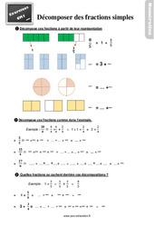 Exercices, révisions sur décomposer des fractions simples au Cm1 avec les corrections