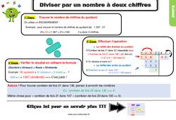 Leçon, trace écrite sur diviser par un nombre à deux chiffres au Cm1