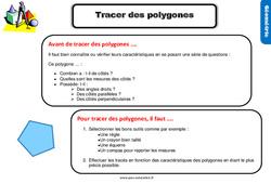 Leçon, trace écrite sur tracer des polygones au Cm1