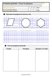 Évaluation, bilan sur tracer des polygones au Cm1 avec la correction