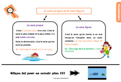 Leçon, trace écrite sur le sens propre et le sens figuré au Cm2