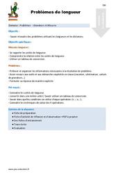 Problèmes de longueur - CM1 - CM2 - Fiche de préparation