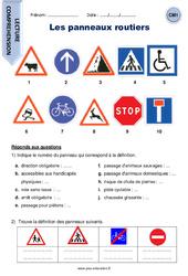 Les panneaux routiers – Cm1 – Lecture compréhension
