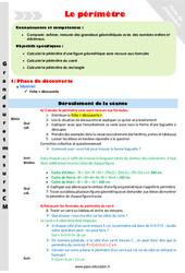 Périmètre – Fiche de préparation – CM1