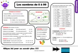 Leçon, trace écrite sur connaître les nombres de 0 à 99 au Ce2