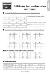 Exercices, révisions sur l'addition de deux nombres entiers sans retenue au Ce2 avec les corrections
