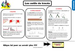 Leçon, trace écrite sur les outils de tracés au Ce2