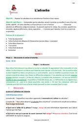 L'adverbe – Cm1 – Fiche de préparation