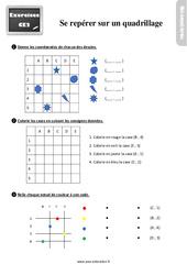 Exercices, révisions sur se repérer sur un quadrillage au Ce2 avec les corrections