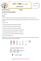 La notion du nombre décimal – Algèbre – Montessori – Atelier 17