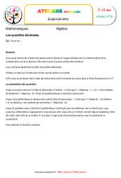 Les quantités décimales – Algèbre – Montessori – Atelier 19