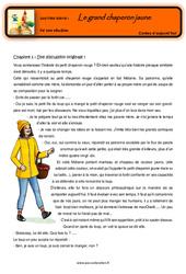 Le grand chaperon jaune – Cm1 – Cm2 – Conte détourné – Questionnaires