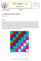 La multiplication de nombres décimaux – Algèbre – Montessori – Atelier 23