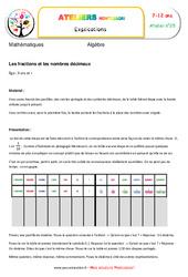 Les fractions et les nombres décimaux – Algèbre – Montessori – Atelier 25