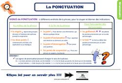 Leçon, trace écrite sur la ponctuation - Ce2