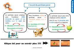 Leçon, trace écrite sur l'accord du participe passé – Cm1