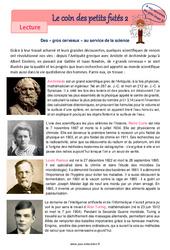 Les gros cerveaux – Cm1 – Cm2 – Lecture pluridisciplinaire