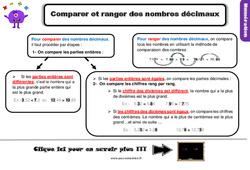 Leçon, trace écrite sur comparer et ranger des nombres décimaux – Cm1