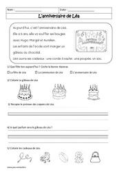L'anniversaire de Léa - Cp - Récit - Lecture