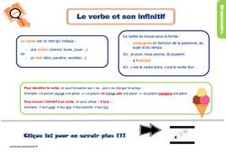 Leçon, trace écrite sur le verbe et son infinitif – Ce1