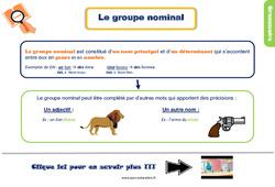 Leçon, trace écrite sur le groupe nominal au Ce1