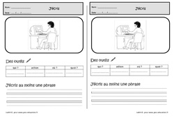 Ecrire une phrase à partir d'une image – Cp – Exercices – Production d'écrit