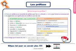 Leçon, trace écrite sur les préfixes au Ce2