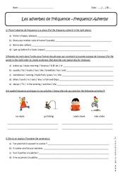 Adverbes de Fréquence - 5ème - Exercices corrigés