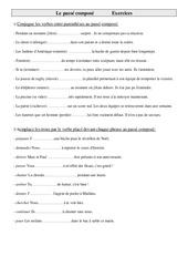 Exercices de conjugaison cm1- cycle 3: Le passé composé
