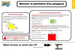 Leçon, trace écrite sur mesurer le périmètre d'un polygone au Ce2