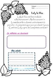 Laly le lilas – Ce1 – 1 histoire 1 problème