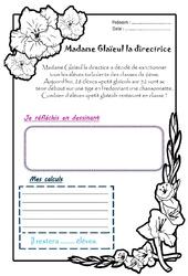 Madame Glaieul la directrice – Ce1 – 1 histoire 1 problème