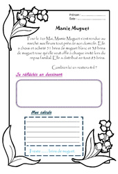 Mamie Muguet – Ce1 – 1 histoire 1 problème