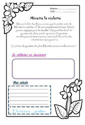 Minette la violette – Ce1 – 1 histoire 1 problème