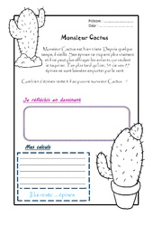 Monsieur Cactus – Ce1 – 1 histoire 1 problème