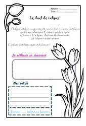 Le duel de tulipes – Ce1 – 1 histoire 1 problème