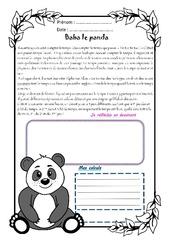 Baba le panda – Cm2 – 1 histoire 1 problème