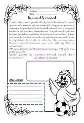 Bernard le canard – Cm1 – 1 histoire 1 problème
