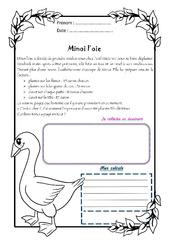 Minoi l'oie – Cm1 – 1 histoire 1 problème