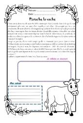 Pistache la vache - Cm1 - 1 histoire 1 problème