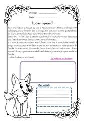 Rocar renard – Cm1 – 1 histoire 1 problème
